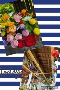 勝林寺の「花手水」と松尾大社の「風鈴」で、残暑(猛暑)に負けるな!