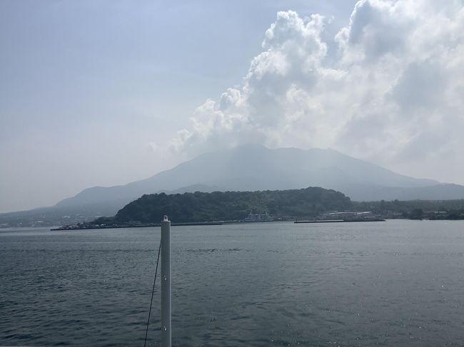 2日目は早めに朝食を済ませて8時過ぎにはチェックアウトしました。<br />いったん鹿児島中央駅まで行き荷物をコインロッカーに預けてから桜島に向かいました。
