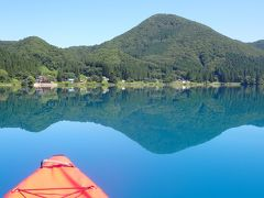 クロスカブ 東北ツーリングでカヤック・田沢湖を周遊しました。