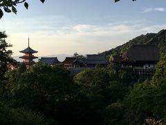 真夏の日帰り一人旅の京都3・夕暮れの清水寺