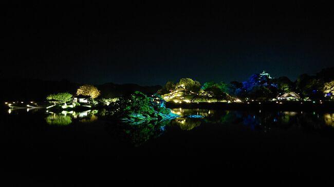 岡山後楽園の幻想庭園にいきました