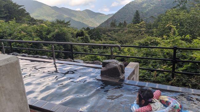 8月最後の週末(金土)に箱根を訪ねてきました。小田急沿線が本拠地の我が家にとって、箱根はかなり身近な存在。昨年の台風で不通になっていた箱根登山鉄道も復旧したばかりで、ここは応援を兼ねて行かねば、と出かけることにしました。<br /><br />都合で午後出発になるので、目的地はあまり欲張らず、ユネッサンなど小涌谷周辺に絞っています(ユネッサンに一度行ってみたかった)。宿泊した「水の音」なかなか快適で、ユネッサンは思った以上に楽しいところでした。カバー写真はユネッサンの絶景露天風呂で、これがなかなか素晴らしかった。<br /><br />メンバーは、小4娘と玉子アレもちの年長坊主です(アレ対応情報も随時いれます)。お供にに子どもたちの手下のカビゴンさんとゴンベちゃんがついてきます。