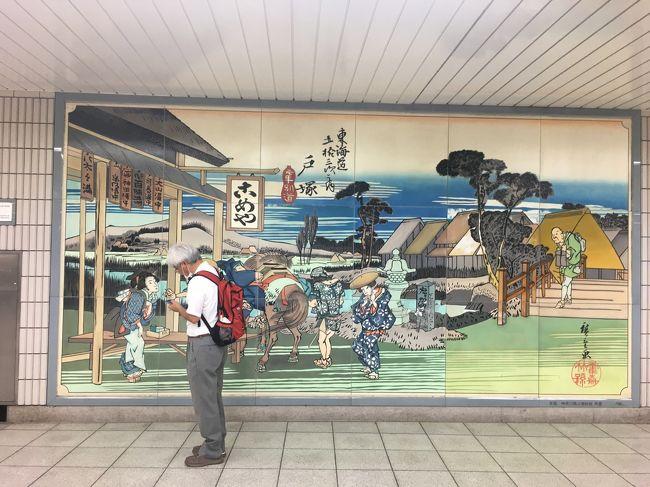 敬老パスを手に入れた嬉しさから横浜散歩を重ね、6つの区を巡ってきました。これまでの経験でわかったのは、市営地下鉄を大動脈とすると、路線バスは市内の隅々まで張り巡らされた毛細血管。JRやその他の私鉄を使わなくても、市内のどこにでも行けるということです。すると俄然欲が出て、敬老パスを使った交通費ゼロの旅で、横浜18区制覇の野望が生まれてきました。<br /><br />9月15日(火)曇り。朝夕が過ごしやすくなり秋の気配を感じるこの日、7つ目の戸塚区を歩きます。<br /><br />歴史や寺社仏閣に疎く、まして郷土史など無縁な私ですが、知らない場所を歩くとなるとある程度の道標が必要です。でないと、徘徊老人になりかねません。という訳で、戸塚と言えば東海道戸塚宿。小学生でも知っている連想でルートは決まりました。ちなみに、表紙写真の人物は私ではありません。偶然、写り込んだ他人です(笑)。