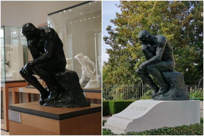 近代彫刻の父と称されるオーギュスト・ロダンが生前に制作活動を行っていた、パリとその近郊ムードンのアトリエが、いずれも美術館として公開されています。<br />新型コロナ感染拡大防止のため3月からパリのすべての美術館は閉鎖になっていましたが、パリのロダン美術館は6月に、そしてムードンは9月18日にようやく再開しました。<br />この2軒のロダン美術館を、週末で制覇。<br /><br />芸術に関しては狭く浅い知識しか持ち合わせていませんが、彫刻の鑑賞は大好き。<br />平面の絵画とは異なり、様々な角度から光と影を調節しながら作品を観察して魅力を探ることができるので、時間をかけてじっくり鑑賞したくなります。<br />しかも2軒のロダン美術館はいずれも雰囲気が良く、作品越しに見える建物や景色も素晴らしい!<br />巨匠の作品を目に焼き付け、心を豊かにすることができました。<br />