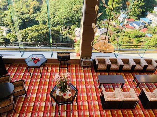 温泉行きたい。。。<br />という事で熱海の伊豆山温泉へ。<br /><br />絶景でアワビとか食べれる温泉宿です。