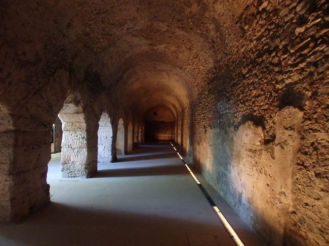 ピーラ山から戻って、昨日行かなかった考古学博物館へ向かいました。<br />大聖堂との間の地下にはローマ時代の地下回廊も残っていて、前回の訪問時に見られなかったところが訪問できて満足できました。<br /><br />☆&#39;.・*.・:★&#39;.・*.・:☆&#39;.・*.・:★&#39;.・*.・:☆&#39;.・*.・:★&#39;.・*.・:☆&#39;.・*.・:★&#39;.・*.・:☆&#39;.・*.・:★<br /><br />【スケジュール】<br /><br />7月8日(日)関空発<br />7月9日(月)ドバイ乗り継ぎでミラノ着(ミラノ泊)<br />7月10日(火)ミラノ→アオスタ、アオスタ散策(アオスタ泊)<br />7月11日(水)コーニュ訪問&ピーラの山上へ(アオスタ泊)<br />7月12日(木)アオスタ→クールマイヨール(クールマイヨール泊)<br />7月13日(金)クールマイヨール→ラ・トゥール(ラ・トゥール泊)<br />7月14日(土)ラ・トゥールクール→マイヨール、シェクルイ湖ハイキング(クールマイヨール泊)<br />7月15日(日)フェレの谷ハイキング(クールマイヨール泊)<br />7月16日(月)クールマイヨール→トリノ(トリノ泊)<br />7月17日(火)トリノ市内観光(トリノ泊)<br />7月18日(水)トリノ→ミラノ、ミラノ市内観光(ミラノ泊)<br />7月19日(木)ミラノ発→ドバイ空港<br />7月20日(金)ドバイ空港→関空着