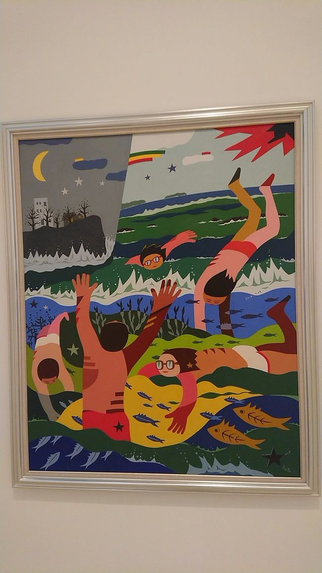 3泊4日沖縄9/22~9/24オクマプライベートビーチリゾート2泊、最終日ナハテラス。1人旅で色々は計画せず。旅先でのローカルTVが良いきっかけとなった那覇編です(表紙 稲嶺成祚 海水浴 2004年 沖縄県立博物館、美術館)