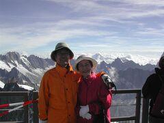 2004年フランス③。エギュイ・ミデイ,シャモニーからケーブルカーとエレベーターで昇れました。