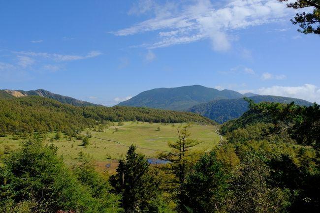 池の平湿原を歩いてきました。紅葉には早かったですが、天気に恵まれ、気分爽快のハイキングでした。