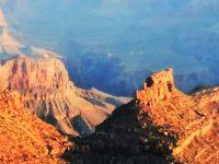 USA-2 アリゾナ2001 b  グランド・キャニオン 朝日輝く ☆ブライトエンジェル・ロッジ展望台