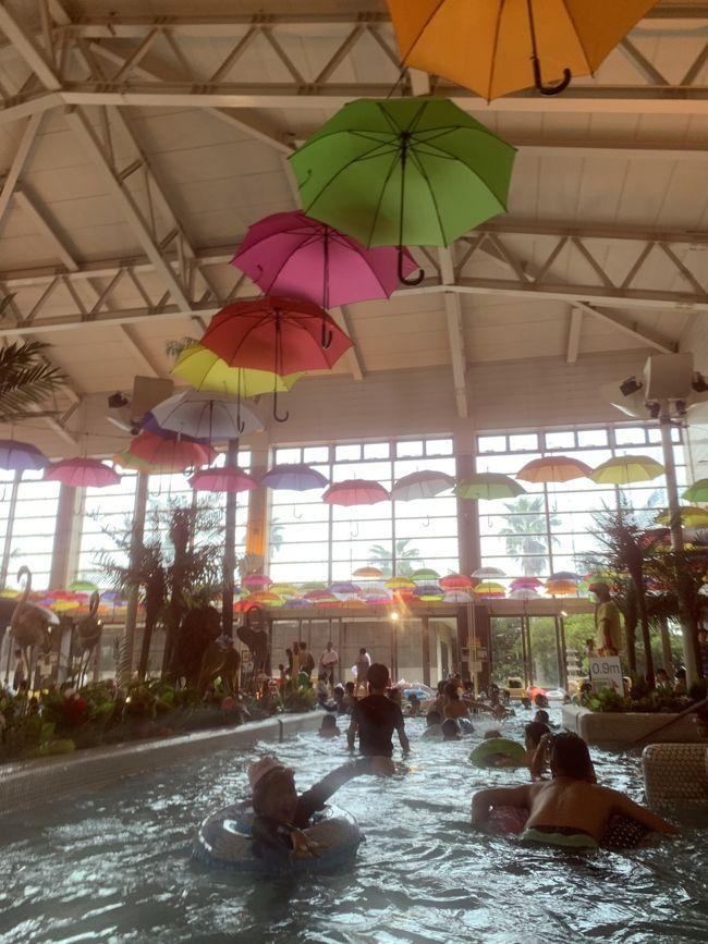 ムスメちゃんをプールで遊ばせたくて、龍宮城スパホテル三日月に日帰りで行きました。<br />