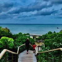 2020年10月4歳児と沖縄♪2日目♪星のリゾートバンタカフェ&ホテルモントレ沖縄のプレミアムフロア