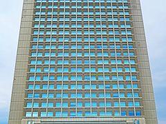 水戸-6 茨城県庁舎 a  移転後20年余-初訪問し ☆地上25階-最高部高 116m-県内一
