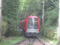 全線運転再開した箱根登山電車に乗って、強羅まで行く