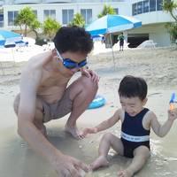 チビ1歳初めての飛行機!沖縄 2012