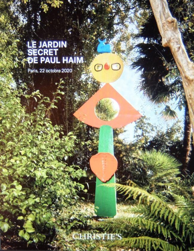 フランスのバスク地方に流れるアドウール川沿いに20世紀を代表する彫刻家たちの作品が置かれた秘密の庭園があるという。<br />所有者はポール・エム(Paul Haim)という美術商。<br />名前を聞いてもそれは誰?となるだろうが、日本の多くの美術館が彼の手を経て彫刻作品の購入をしているという。<br />箱根の彫刻の森美術館にあるピカソ館は彼の尽力によって生まれたとも言われている。<br /><br />芸術家たちとの親交でもたらされた作品の数々が、広大な庭地に配され、未公開のためごく限られた人々にのみが接することができるという。<br /><br />そして今、それらの作品がオークションにかけられるためにパリに運ばれ、初めて世に披露されることになった。<br /><br />ポール・エム夫妻が亡くなり、あとを継いだ娘さんは両親の情熱や思いをしっかりと踏まえながらも、庭園の置かれている自然環境の変化に維持をし続けることの困難さを悟り、売却することを決意したという。<br /><br />扱うのは美術品オークションで知られるクリスティーズ( Christie&#39;s)。<br />オークションに先立ってパリ7区にあるケリング( Kering )の本社で内覧会を催すという。<br /><br />ケリングという名を聞いてもまったくピンとこなかったが、グッチやイヴ・サンローラン、バレンシアガといった有名ブランドを擁する複合企業の総本山であるという。<br /><br />その場所を聞いてびっくり。<br />ボンマルシェに隣接して何やら由緒ありげな建物群があり、通るたびにいつも気にかけていた場所なのだが、そこがケリング本社であるという。<br />これを知るまでは、ずっと病院だと思っていた。<br /><br />出入りの様子をみて、ずいぶんとセキュリティが厳しい病院だなとは思っていたのだが、17世紀の病院を今では社屋として使用していることを初めて知った。<br />それでは一般の出入りを許すわけはないはずだ。<br /><br />秘密の庭園のコレクションも見てみたいが、その場所にも大いに興味がある。<br />そうと知った以上は、何を措いても行ってみたいという気持ちが急速に膨れ上がった。<br /><br />気持ちはそうなのだが、あいにくとクリスティーズにもケリングにもまったく縁のないわが身。<br /><br />とりあえず何日か設定されている公開日(内覧日)を片っ端から申し込んでみたのだが、すべてアウト。<br />その他あの手この手と考えたのだが、どうにも決定打が思い浮かばない。<br /><br />ところがである、念ずれば通ずとはこのことか、日をおいて再度申し込みをしたところ何とセーフ。<br />正直、自身の目を疑ったくらいだが、思わず小躍りしたくなった。<br /><br />という次第で、正しくは『秘密の庭園のコレクションを、秘密ではないけれど立ち入りができない魅力ある場所でお披露目にあずかった私的興奮記』が本旅行記のタイトルである。<br /><br />さらに、まるで語呂合わせのようであるが、ちょうどケリングと背中合わせに在っててひそかに「パリの秘密の庭園」と呼んでいるカトリーヌ・ラブレ庭園とその間にある不思議のメダイ礼拝堂のことなどなど...<br /><br /><br />〔表紙写真はクリスティーズカタログより。作品はジョアン・ミロ(1893-1983)の La Caresse d&#39;un oiseau 〕<br /><br /><br /><br /><br /><br /><br /><br /><br />