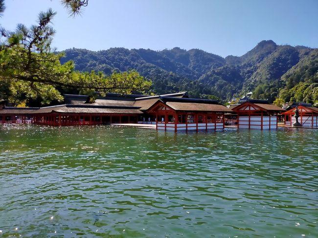 広島ひとり旅 ②1日がかりで宮島  大潮満潮の厳島神社にまあびっくり