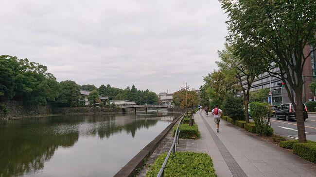 「マンダリンオリエンタル東京」に宿泊した日の朝に、皇居の周りをランニングしました。<br /><br />皇居周りを一周したコースの内容は、次のとおりです。ランニングの景色や観光スポットをお楽しみください。<br />↓<br />09:00-10:20 ランニング(皇居周り)<br />(09:10 将門塚→09:15皇居→09:20大手濠緑地(和気清麻呂像、震災イチョウ)→0925皇居東御苑・江戸城跡(追幕の碑)→0927竹橋門跡→0929竹橋御門→0930北桔橋門(きたはね)・皇居東御苑入口→0933乾濠小公園・「森の調べ」像→0935国立近代美術館工芸館→0940千鳥ヶ淵公園→0945半蔵門→0947国立劇場→0957→桜田門櫓門・内堀通り・皇居外苑→1009大手門→1019一周完了<br />
