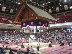 両国国技館で大相撲11月場所2日目観戦と両国ビューホテル・唐紅花でちゃんこ鍋の食事