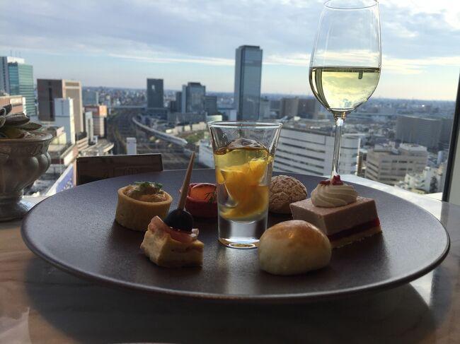 名古屋マリオットアソシアホテルのコンシェルジュフロアでホテルステイを満喫。帰りは近鉄特急ひのとりのプレミアムシートに乗車しました。