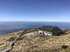 新しくなった避難小屋を見に大山登山