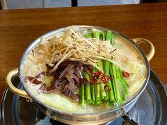 JALサファイア実感フライト 福岡にもつ鍋を食べに行く