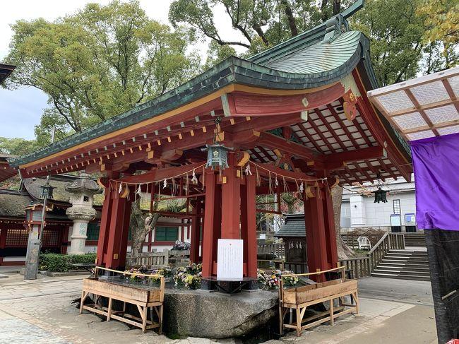 小倉城まで散策してからホテルを出て宗像大社に寄ってから秋月、太宰府天満宮を観光して博多に戻り11日間利用してたヴィッツを返却してホテルに。