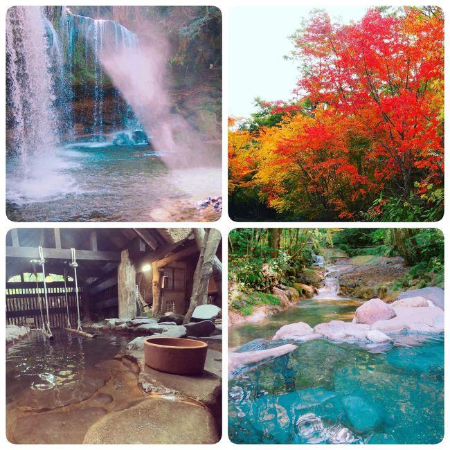 5年前に日帰り入浴で行った黒川温泉の素敵な露天風呂のある山河旅館。その時からいつか泊まってみたい憧れの宿に。その後遂に泊まろうと思って熊本の航空券を予約したのに宿が満室で泊まれないという失敗を経て、今回遂にチャンスが来た!しかもGoToでお得に!<br /><br />楽天パック<br />JAL+宿+レンタカー<br />大人 42,000 円 × 2 名<br />特別免責補償 × 1   1,540 円<br />■旅行代金(人数合計)    : 85,540  円<br />■goto+楽天クーポン利用:-31,000円<br />54,540円<br /><br />10月27日(火)<br /><br />●パワーラウンジ<br /><br />JAL625<br />08:20羽田<br />10:10熊本<br /><br />10:30スカイレンタカー発<br /><br />11:10~11:50<br />あか牛料理専門店やま康でランチ<br /><br />13:00~13:40<br />鍋ヶ滝<br /><br />山河旅館泊<br /><br />10月28日(水)<br /><br />09:50山河旅館発<br /><br />●黒川温泉湯巡り<br />10:00~10:50<br />湯巡り①山みず木<br /><br />11:00~11:40<br />湯巡り②いこい荘<br /><br />12:00~12:45<br />湯巡り③黒川荘<br /><br />14:20~15:00<br />雲海橋でランチ<br />3,000円GoTo地域共通クーポン<br /><br />15:20~16:30<br />高千穂峡<br />5,000円GoTo地域共通クーポン<br /><br />18:30<br />レンタカー返却<br /><br />●ASOラウンジ<br /><br />JAL638<br />19:55熊本<br />21:25羽田<br /><br />