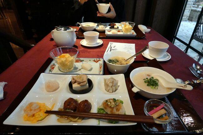 エクシブ蓼科では和朝食が多い我家ですが、今回は直前予約で二日とも満席でした。<br /><br />そこで1日目は中国料理 翠陽で中国粥、二日目はイタリア料理 ルッチコーレでアメリカンブレックファーストを楽しみます。<br />