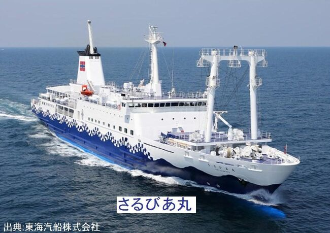 静岡/伊豆&離島元気旅・その4.東海汽船/さるびあ丸で伊豆諸島利島へ。