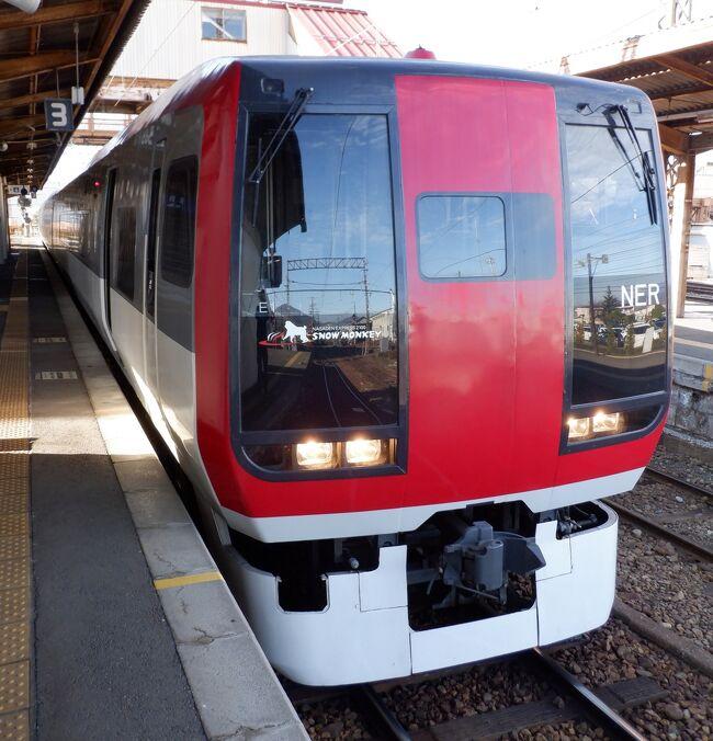 長野駅に着いた後は長野電鉄のA特急スノーモンキーに乗って湯田中に向かいました。