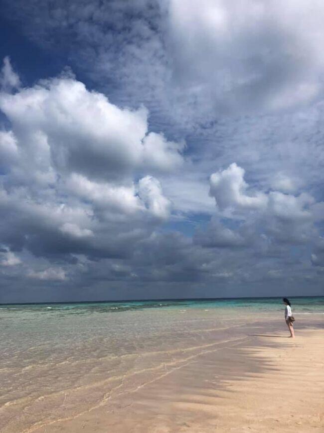 2014年12月以来、4年2か月ぶり4度目の与論島上陸。4度目の来島にして最高の天気に恵まれて、念願の百合が浜に初上陸できました。最高の青空とピュアホワイトな砂浜と「与論ブルー」と呼ばれる輝かしいエメラルドブルーが織りなす瞬間にひたすら酔いしれました。私たちのツアーボートが百合が浜を去るや、空にはあっという間に雲が覆いだし、あれほど美しかった与論ブルーも時間とともに、ブルーからグレーへと翳っていきました。<br /><br />大潮と干潮が重なったとき、島東部の大金久海岸の沖合いに浮かび上がる奇跡の砂浜「百合が浜」。たとえ条件が重なったとしても、その日その時の気象状況次第で浮かび上がらないこともあるそうです。そんな奇跡の砂浜がこの週末前後に見られるかも、という情報を与論島の観光案内のホームページで見たものだから、早速航空券と宿、さらには百合が浜行きツアーも当日任せじゃなく事前手配。ネットで確認したら、与論島の干潮時間が15時半とあったので、15時ツアースタートで手配しました。<br /><br />ところが、当日10時過ぎに百合が浜行きツアーの会社のおやっさんから電話があり、急遽予約時間を予定より1時間以上早めに変更させられました。さらには、鹿児島から与論へ向かう飛行機が機材到着遅延で出発も20分ほど遅延。与論に着いてからツアー参加まで当初は余裕あるスケジュールだったのが、逆に時間との勝負になってしまい、かなーりハラハラさせられました。<br />なので、与論行きの飛行機の狭いトイレで、水着をジーパンの下に着替えましたよ。宿でおやっさんに送迎してもらうようにしていたから、宿にチェックインして部屋に荷物を置いたらすぐ脱げるように。足元が海に浸かりますから。で、こんなときに限って気はますます逸り「与論行きの飛行機の座席を前方で確保したのがせめてもの救いだ」なんて思っていたら、機材の都合で後部から搭乗とかね。わざわざCAさんに言っちゃいましたよ。「せっかく前で席を取ったら、後ろから搭乗なんて」みたいなことを。<br /><br />でも、結論として急遽の予定変更は結果オーライだったというか、むしろこのタイミングのよさは奇跡の域ですらありました。後から考えてみれば、もっとも干潮だからって百合が浜が100%現れるわけもないわけですし、生粋の与論人であるというツアー会社のおやっさんなりの判断もあったのでしょう。こんな奇跡は、よほどのことがない限り「次」はもう起こらないのだろうけど、いやはや、そんな奇跡をまた体験したくなって与論島に行くんだろうな。<br /><br />ご飯に惹かれて(笑)今回宿泊したヨロン島ビレッジも、実は宿泊は7年越しでした。忘れもしませんが、7年前は奄美大島辺りの上空で「機内の空調が壊れたので鹿児島へ引き返します。上手く直せれば再トライしますが、直らない場合は本日中の与論行きはありません」との機長アナウンス。案の定というか空調は残念ながらすぐに直せず、あとに予定が入っていてキャンセルもできなかったために、与論行きをまるごとキャンセルにしてその日のうちに東京に帰ったのです。その後、何年かして別の機会に予約を入れようとするも、あいにく満席だったこともありました。<br />肝心のご飯。晩ご飯は、それはもうコース料理並みの豪華さで大満足。グルクンのソテーとトンコツがめっさ美味かったですね。朝ごはんもかなり豪華で、おかゆにトーストとか欲張りだったし、これまた大満足でした。街中から遠いけど何だか居心地も良く、宿でだらだらしたくなったのは久々でした。また泊まりたいな。<br /><br />百合が浜での好天が一転、2日目は朝から傘が手離せない雨模様。最後だけ少し晴れてくれましたが、昨日のような与論ブルーはほとんど見られず、いかに昨日の好天が素晴らしい出来事だったか。まさに「旅は一期一会」と実感した1泊2日の与論旅なのでした。長々と失礼しました。読んでくださった方、ありがとうございました。与論の言葉で言えば「とーとがなし」というヤツですね。