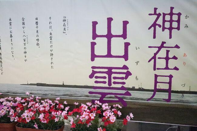 10月は旧暦で神無月(かんなづき)ですが、出雲地方では八百万(やおよろず)の神々がお集りになる10月~11月を神在月(かみありづき)と言います。<br /><br />出雲大社の神楽殿にある日本一の大しめ縄は、長さ13.5m、重さ5tで圧巻です。加えて日本一の国旗掲揚台はポール高が47m、国旗14m×9mあり、ずいぶん遠くからでも日の丸がたなびく様子がはっきり見て取れます。<br /><br />拝殿手前の銅鳥居近くにある神牛、来年の干支は丑年なので、撫でて良い年を迎えたいと思いました。GO TOトラベルで参拝者が増えている中、感染対策を万全にして参拝しました。