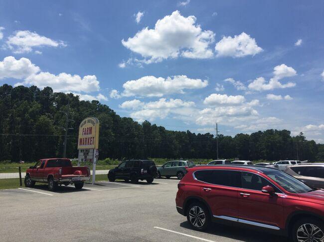 州越えまであと10分です。サウスカロライナ州まであと1時間のリーランドで給油して、更に45分ほど走ってブランズウィックで寄り道。国道17号線で2か所にストップバイしました。