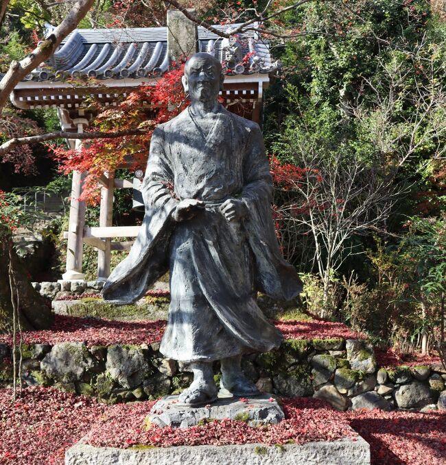 二尊院は、嵯峨野の素朴な田舎の風景が広がる、小倉山の麓にある天台宗の古刹です。釈迦如来と阿弥陀如来の二尊をお祀りしていることから二尊院と名付けられています。総門から続く「紅葉の馬場」と呼ばれる参道の両側には、もみじと桜の木が交互に植えられており、紅葉の名所としても知られています。