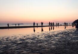 初めての四国へ・・2日目午後は銭形砂絵と父母ケ浜の絶景そして御宿敷島館♪