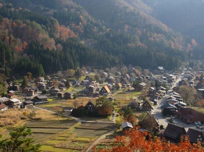 萩町城跡展望台に行き、白川郷の風景を堪能し、せせらぎ公園駐車場に車を停めて、集落を散策しました。