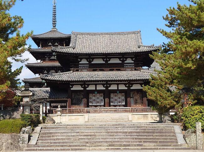 奈良の二日目。今回の旅のメインエベント、法隆寺と薬師寺を巡ります。<br /><br />法隆寺に俄かに興味を持ったのは、西岡棟梁のことを知ったから。<br />弥次喜多は、いつも単純な動機で旅に出るんです。<br /><br />