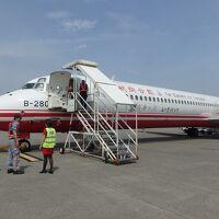 遠東航空 MD-83 福島空港チャーター便 帰路