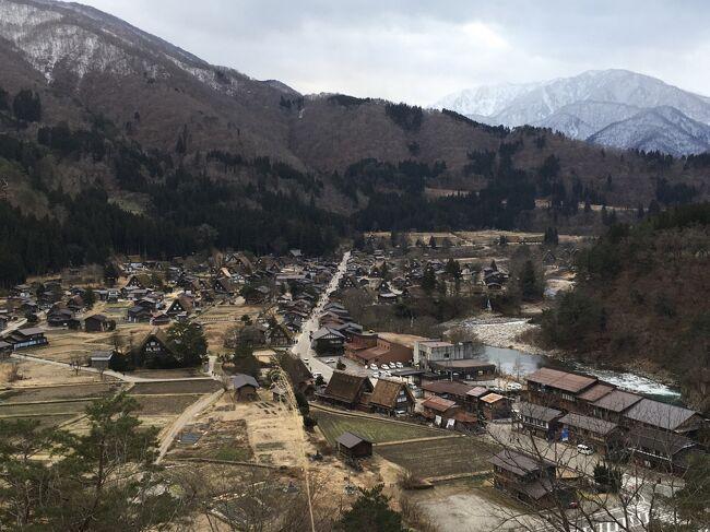 冬の白川郷、雪がなくても楽しいよ!