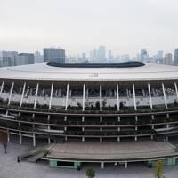 2020年オリンピックを思い国立競技場【三井ガーデンホテル外苑の杜 東京Xマスのイルミネーション】