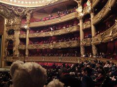 初めてのパリ その10(韓国・ロシア・ドイツ・イギリス・フランス 14日間の旅 その7-20) オペラ座③、豪華劇場にてオペラ鑑賞!