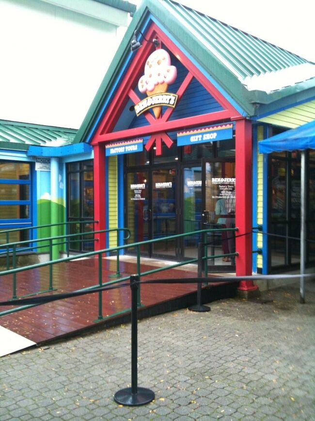 アメリカのスーパーで必ず見かけるアイスクリームブランドのベン&ジェリーは、ここバーモントのベンとジェリーの2人から始まった会社。今は全米だけでなく日本でもみかけます。アメリカンドリームのサクセスストーリーとして、この会社の名前は何度か耳にしていたので、ここに来ることを楽しみにしていました。