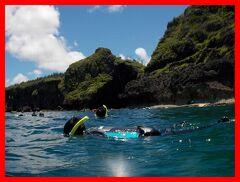 夏バカンス沖縄2014(5)青の洞窟シュノーケリング、アリビラ佐和の和球会席