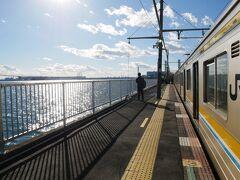大晦日午後から220円で行く横浜のローカル線、鶴見線海芝浦支線海の駅ツアー