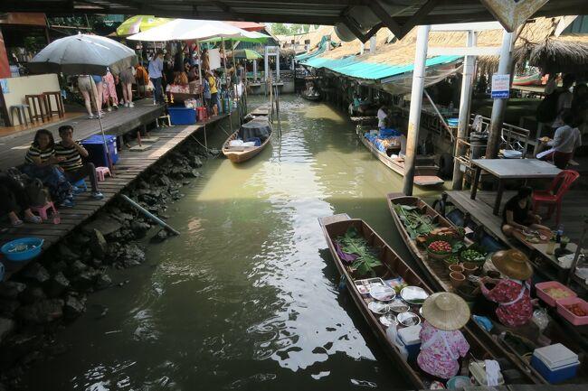 タイ・ラオス メコン川紀行 8日目 バンコクうろうろ 水上マーケットと無人駅