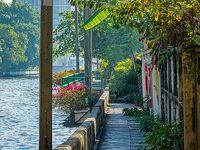 コロナでゴルフにも行けないので、健康のためにセンセープ運河沿いへ散歩に出掛ける