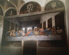 """初めてのミラノ その10 (イタリア・スペイン・ポルトガル・オランダ 12日間の旅 その1-10)感動、""""最後の晩餐"""" 見れました!"""