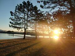 野島公園から拝む2021初日の出