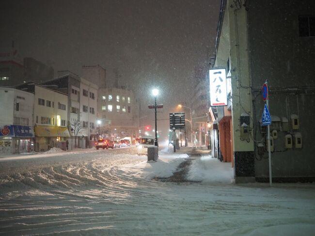青森・雪の進軍、氷を踏んで…まさかの欠航、遭難気分(三内温泉)